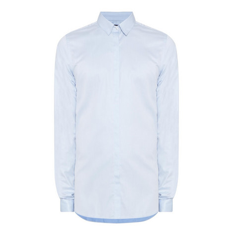 Twill Fitted Shirt, ${color}
