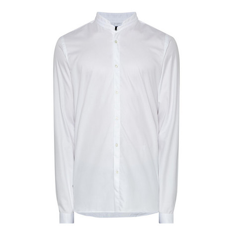 Poplin Stand Collar Shirt , ${color}