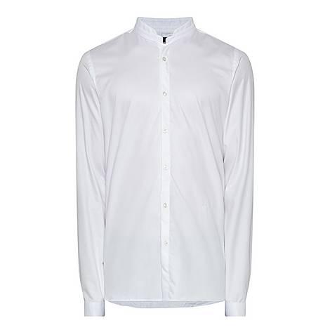 Poplin Stand Collar Shirt, ${color}