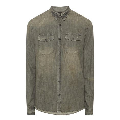 Distressed Classic Shirt, ${color}