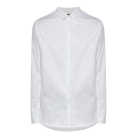 Diamond Woven Fitted Shirt, ${color}
