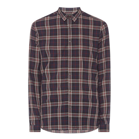 Long Sleeve Check Shirt, ${color}