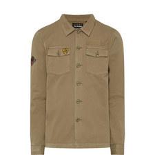 Appliqué Military Overshirt Jacket