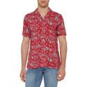 Skull Palm Print Shirt, ${color}