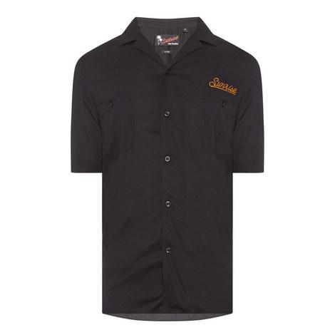 Short Sleeve Button-Down Shirt, ${color}