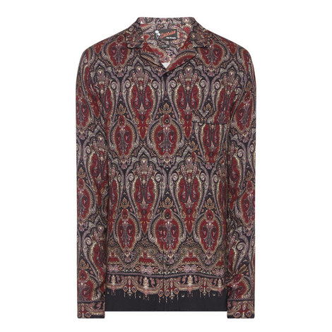 Paisley Print Shirt, ${color}