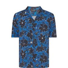 Floral Print Bowling Shirt