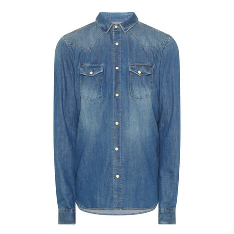Washed Denim Shirt , ${color}