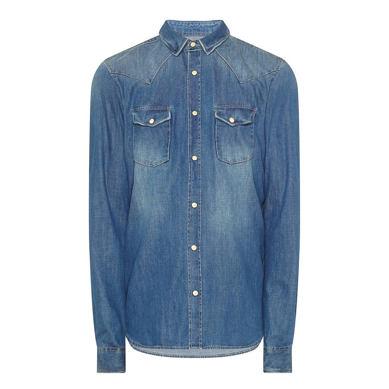 bc24854257 ... Washed Denim Shirt , ${color}