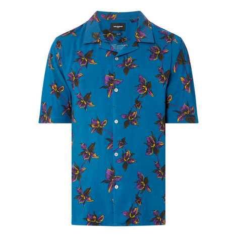 Hibiscus Print Shirt, ${color}