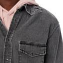 Distressed Denim Shirt, ${color}