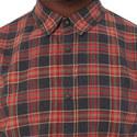 Frayed Check Print Shirt, ${color}