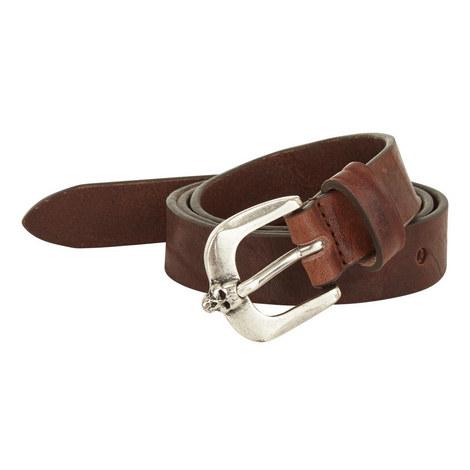 Leather Skull Buckle Belt, ${color}