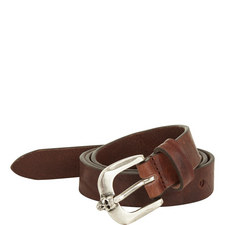 Leather Skull Buckle Belt