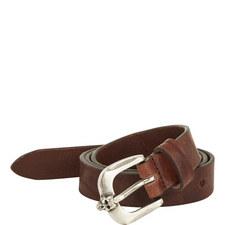 Leather Skull Buckle Belt