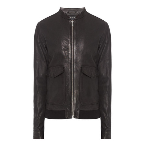 Leather Varsity Jacket, ${color}