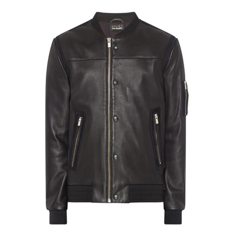 Leather Teddy Jacket , ${color}