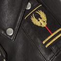 Leather Military Biker Jacket, ${color}