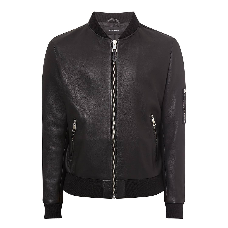 a6844288d9b Teddy-Style Leather Jacket