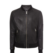 Teddy-Style Leather Jacket