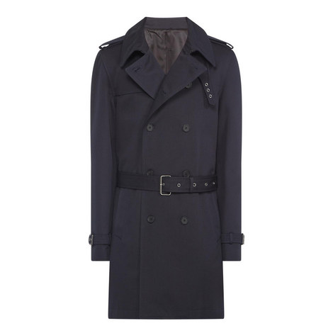 Double-breasted trench coat in cotton tw, ${color}