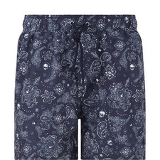 Bandana Micro-Pattern Swim Shorts
