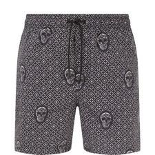 Skull Print Swim Shorts