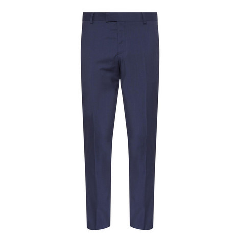 Straight Fit Wool Suit Trousers, ${color}