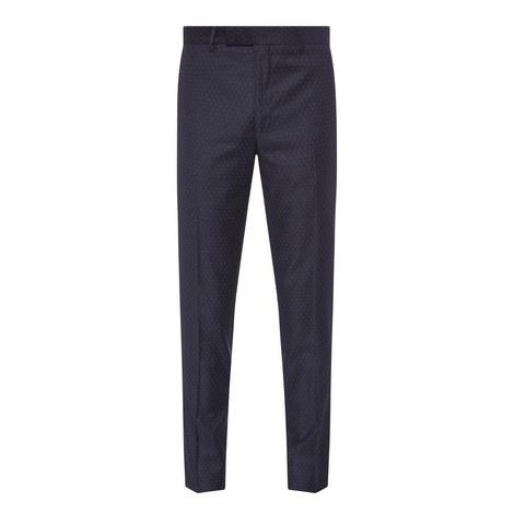 Micro-Motif Suit Trousers, ${color}