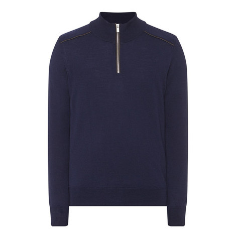 Zip-Collar Merino Sweater, ${color}