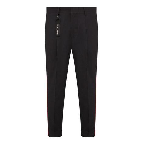 Grosgrain Striped Trousers, ${color}