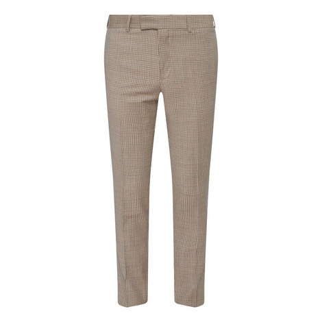 Micro Houndstooth Suit Trousers, ${color}