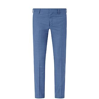 Slim Fit Wool Suit Trousers