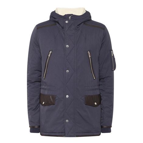 Two-Tone Parka Jacket, ${color}