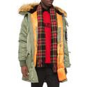 Contrasting Parka Jacket, ${color}