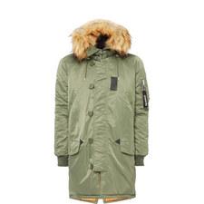 Contrasting Parka Jacket