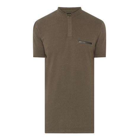 Mandarin Collar Polo Shirt, ${color}