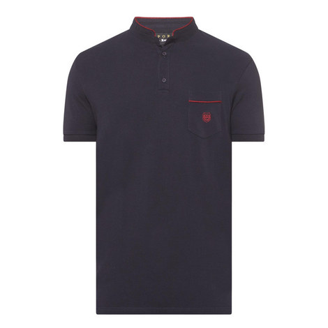 Braided Trim Piqué Polo Shirt, ${color}