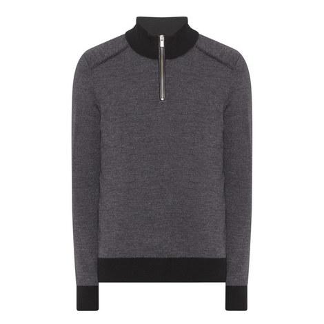 Zip-Collar Merino Sweater, ${color}