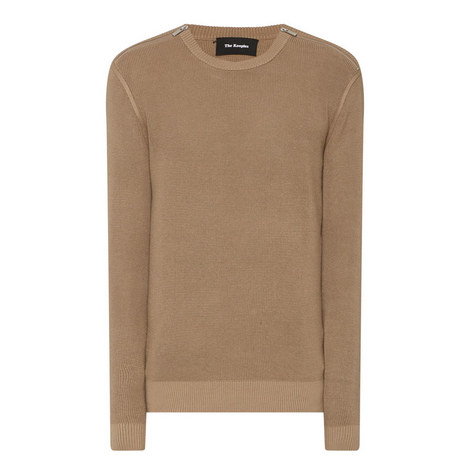 Shoulder Zip Sweater, ${color}