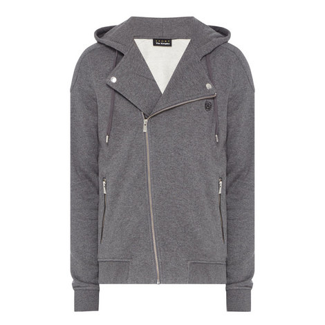 Hooded Biker Sweatshirt, ${color}