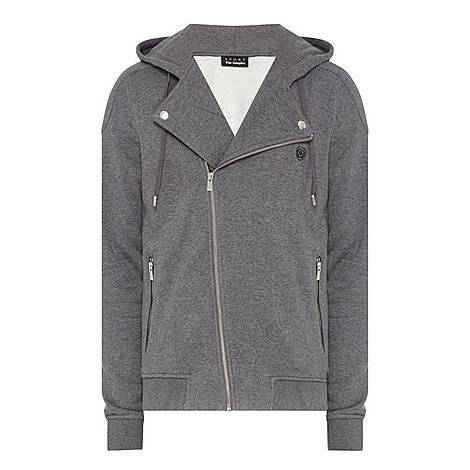 Hooded Biker Sweatshirt, ${color}