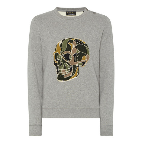 Embroidered Skull Sweater , ${color}