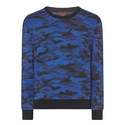 Camouflage Print Sweatshirt, ${color}