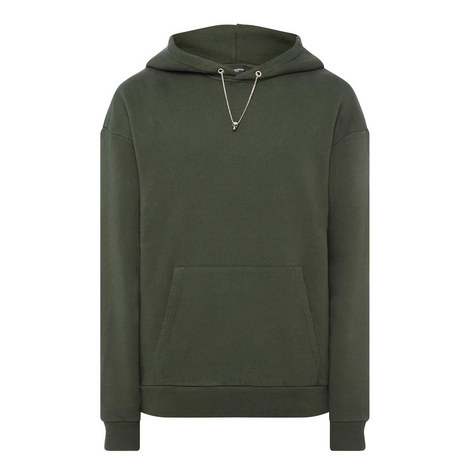 Skull Chain Fleece Hoodie, ${color}