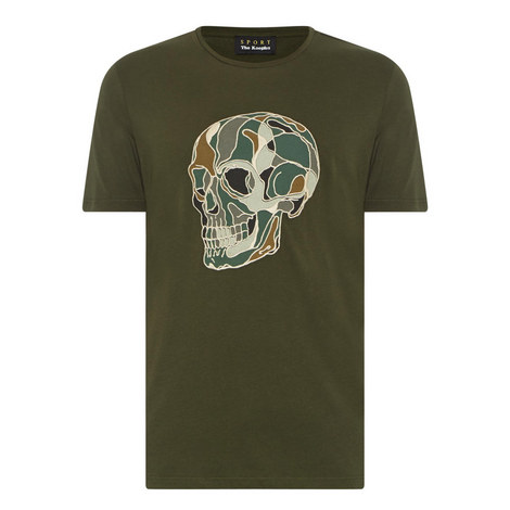 Skull Embroidered T-Shirt, ${color}