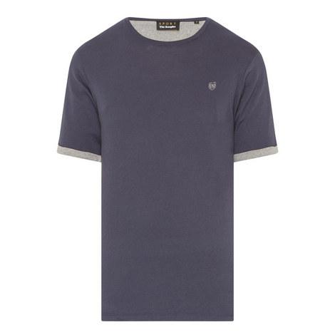 Contrast Crew Neck T-Shirt, ${color}