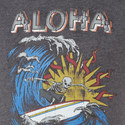 'Aloha' Skeleton Print T-Shirt, ${color}