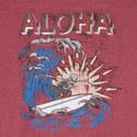 Aloha Skeleton Print T-Shirt, ${color}