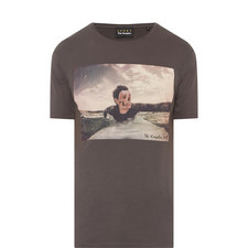 Skullhead Surfer Print T-Shirt